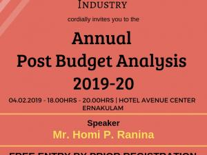 Annual Post Budget Analysis 2019