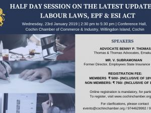 Half Day Session on the Latest Updates in Labour Laws, EPF & ESI Act