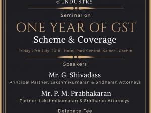 Seminar on One Year of GST - Scheme & Coverage