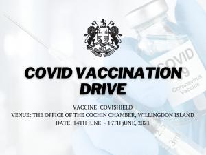 Covid - 19 Vaccination Drive organised by the Cochin Chamber of Commerce & Industry in association with Aster Medcity