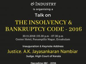 "Talk on ""Insolvency & Bankruptcy - 2016"""