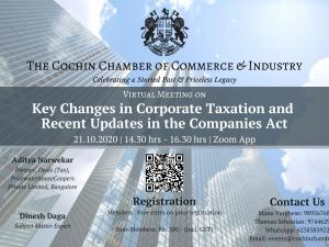 Key Changes in Corporate Taxation and Recent Updates in the Companies Act