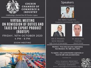 "Virtual Meeting on ""Remission of Duties and Taxes on Export Products"" (RoDTEP)"